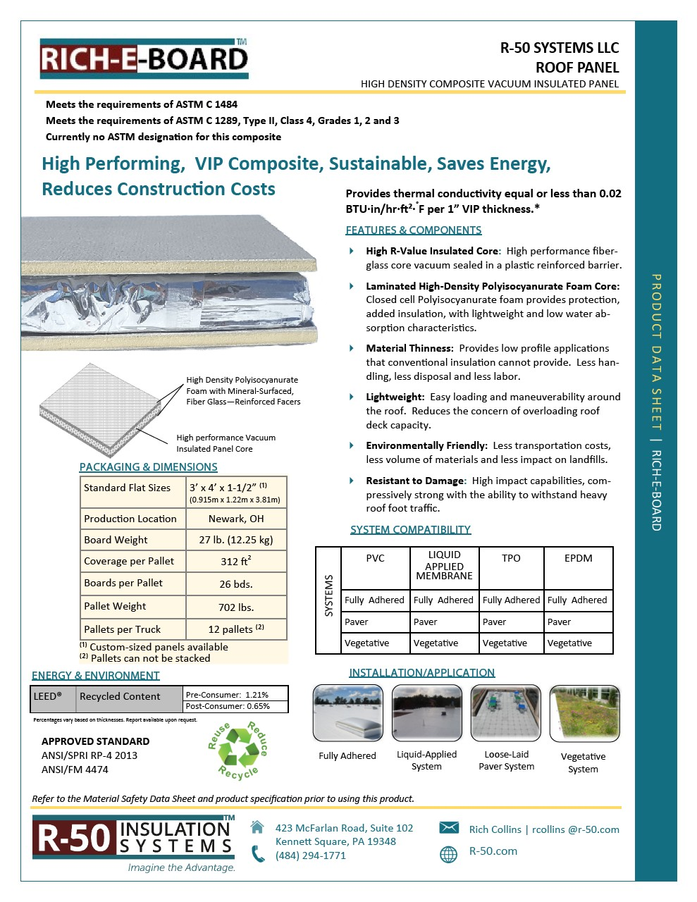 Download Product Data Sheet for Sikathin-50 Roof System