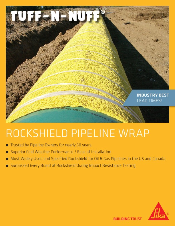 ROCKSHIELD PIPELINE WRAP SELL SHEET