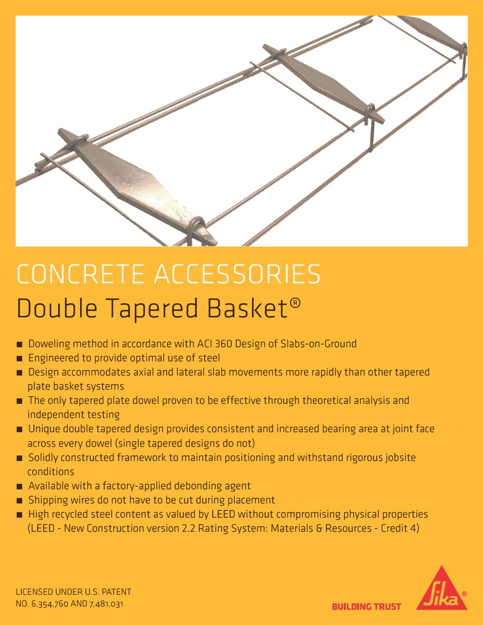 Sika Double Tapered Basket Sell Sheet