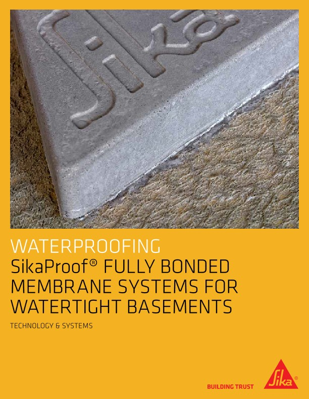 SikaProof Fully Bonded Membrane Systems Brochure