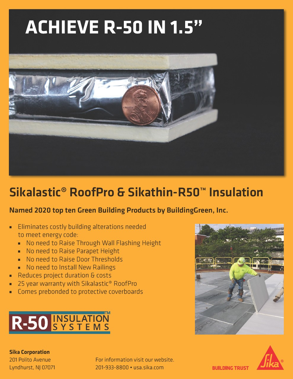 Download Flyer for Sikalastic RoofPro & Sikathin-R50 Insulation