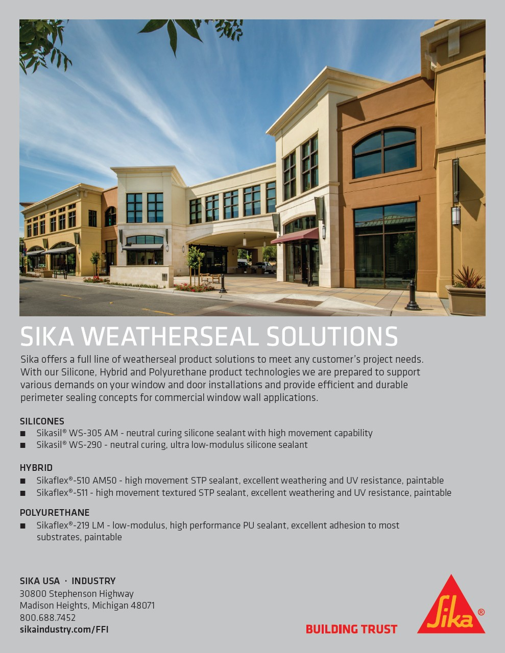 Sika Weatherseal Solutions