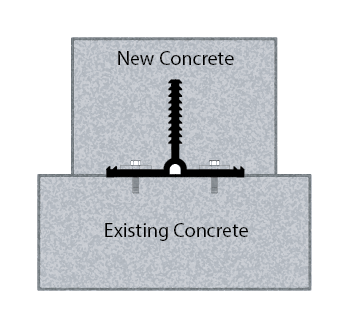 retrofit waterstop embedded in concrete drawing