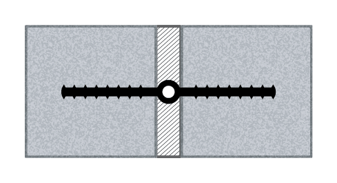 ribbed centerbuld waterstop profile drawing