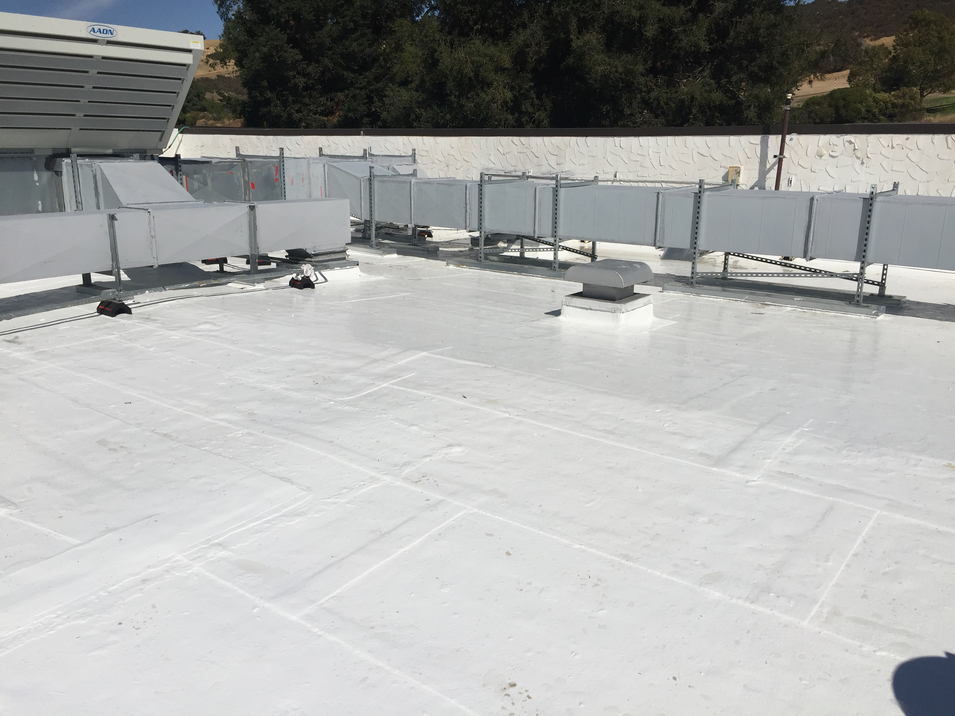 applied Sikalastic 500 on a roof