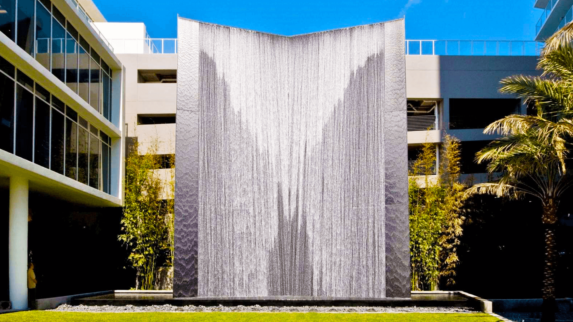 Signature Place Cascading Water Wall